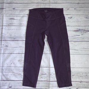 Athleta Girl Purple Capri Leggings Mesh ~Med 8/10